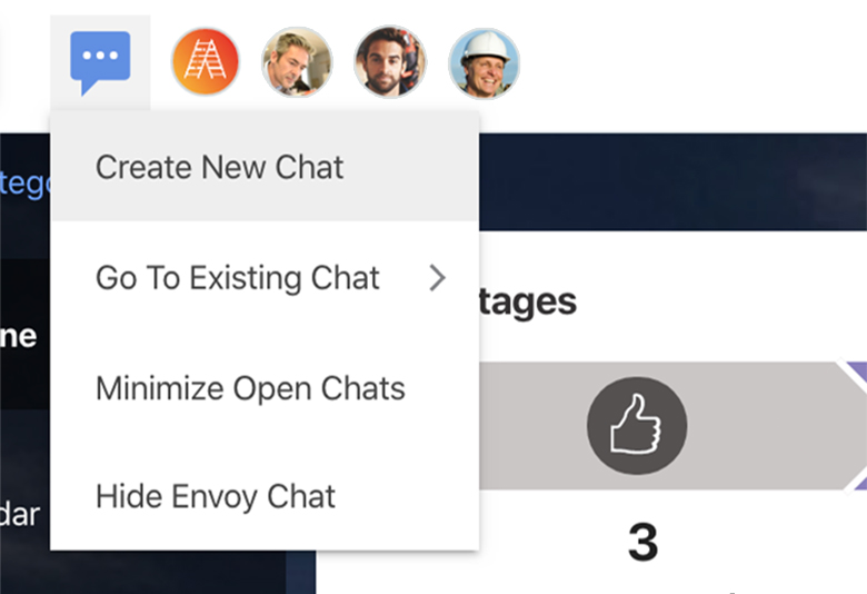 ConstructionOnline Envoy - Create New Chat