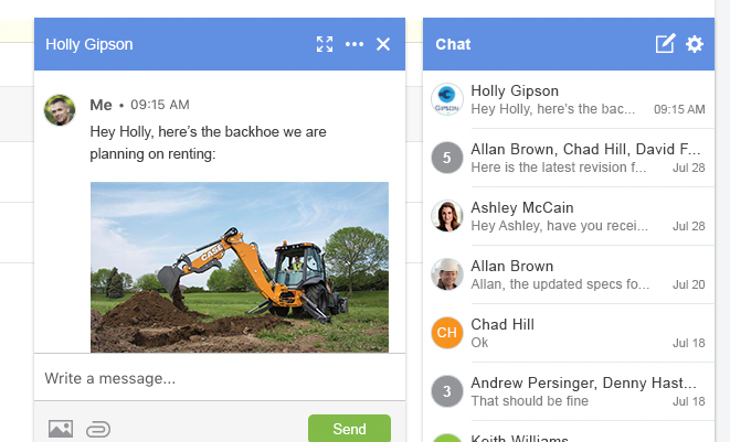 ConstructionOnline Envoy - Chat List