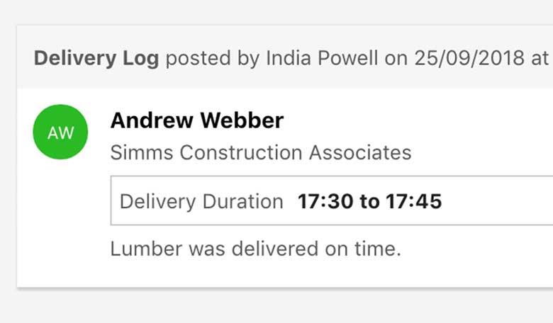 Construction Project Logging Software 3