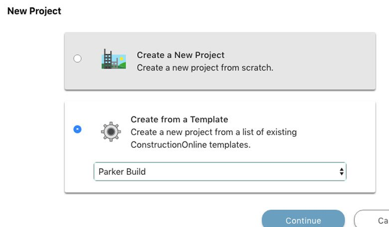 Construction Project Template Software - UDA ConstructionOnline™