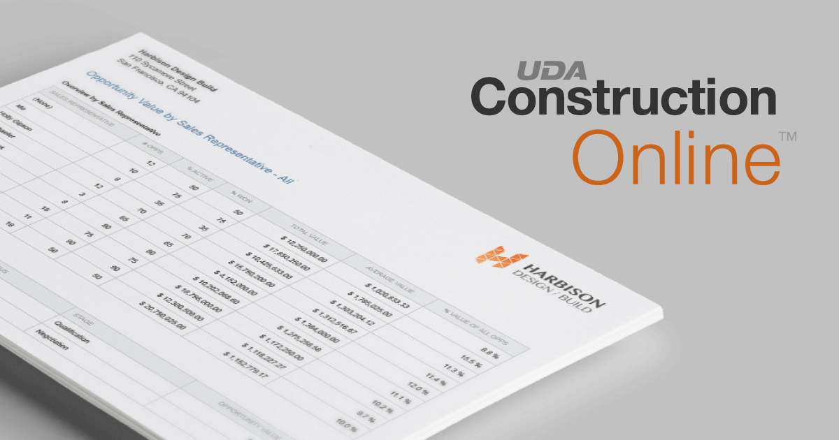 UDA ConstructionOnline™ - The Industry Leader in